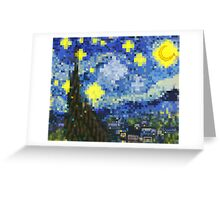 8-bit Starry Night Greeting Card