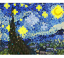8-bit Starry Night Photographic Print