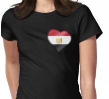 Egyptian Flag - Egypt - Heart Womens Fitted T-Shirt