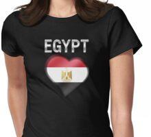 Egypt - Egyptian Flag Heart & Text - Metallic Womens Fitted T-Shirt