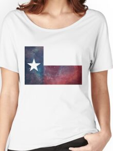 Texas Flag Nebula Women's Relaxed Fit T-Shirt