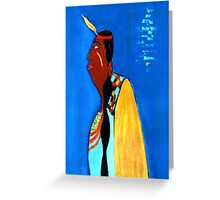 the falling feather Greeting Card