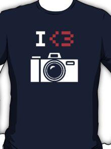 I Love Photography Camera T-Shirt