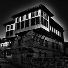 Black &amp; white Traditional old house at Kastoria (Makedonia, Greece) by Tania Koleska