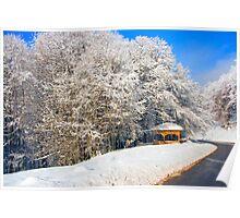 kioski under snow Poster