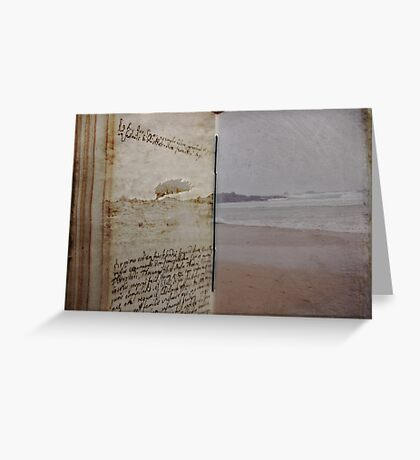Book of Solitude Greeting Card