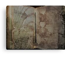 Book of Earth Canvas Print