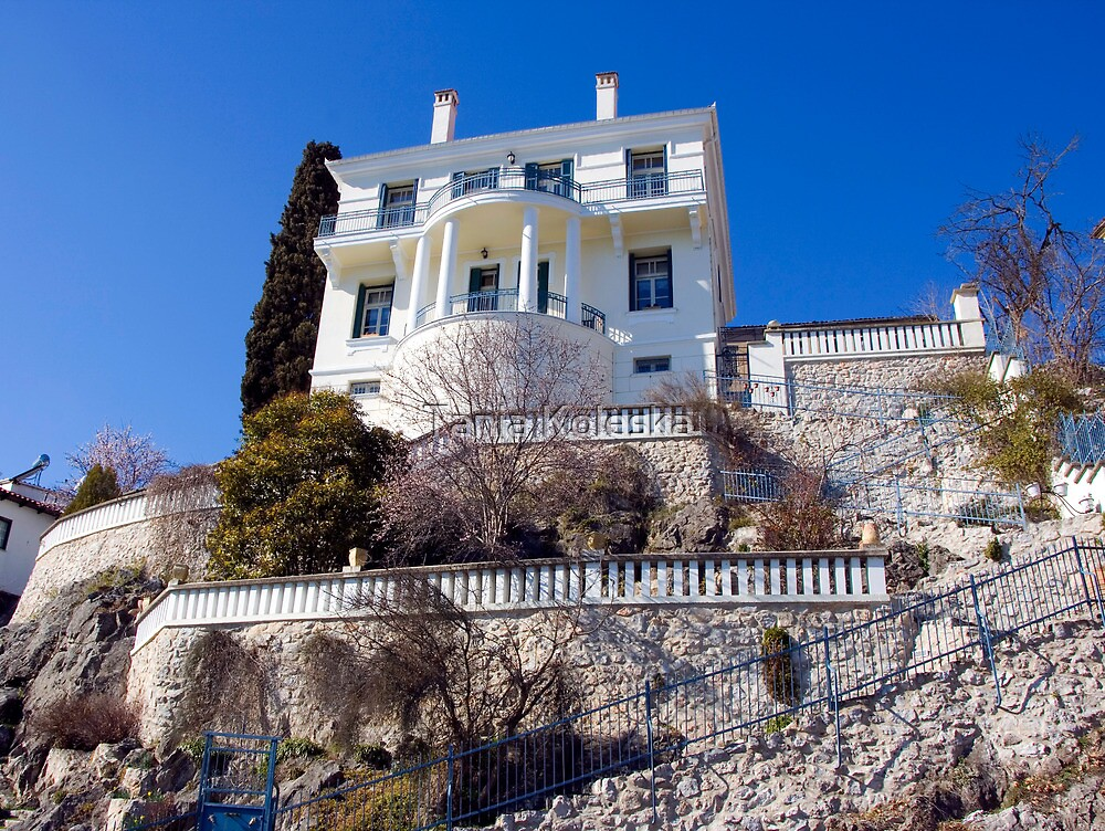 House with view at Kastoria (Makedonia, Greece) by Tania Koleska