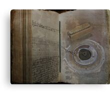 Book of Drudgery Canvas Print