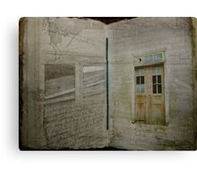 Book of Decay Canvas Print