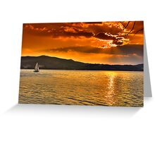 Sailing through the sun Greeting Card