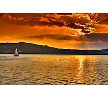 Sailing through the sun Photographic Print