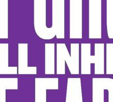 FAT GIRLS SHALL INHERIT THE EARTH - BBW Sticker