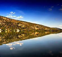 mirror mountain in Kastoria Lake (Makedonia, Greece) by Tania Koleska