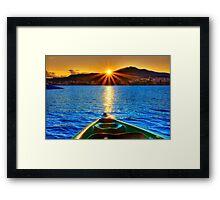 Canoe & Cayak through the Sun Framed Print