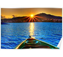 Canoe & Cayak through the Sun Poster