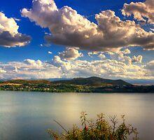 Panoramic view of Kastoria city. (Makedonia, Greece) by Tania Koleska