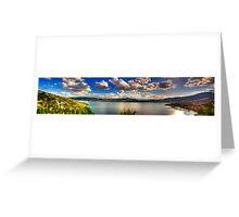 Panoramic view of Kastoria city. (Makedonia, Greece) Greeting Card