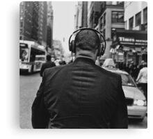 Headphones Stalking Canvas Print