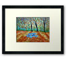 Autumn in the park Framed Print