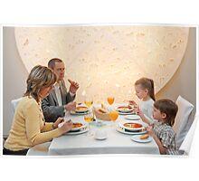 Dinner in restaurant Poster