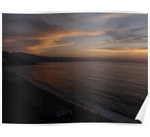 The beach of Puerto Vallarta after sunset Poster