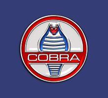 Shelby Cobra - Original 3D Badge on Blue and White T-Shirt