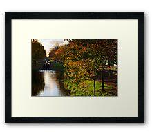 Grand Canal in autumn, Dublin, Ireland Framed Print