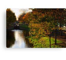 Grand Canal in autumn, Dublin, Ireland Canvas Print