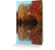 Autumnal Mirror Greeting Card