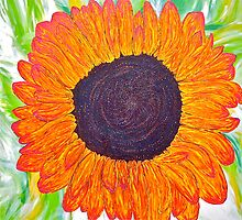 Magenta Sunflower  by Christine Chase Cooper