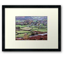 Derbyshire Dale Framed Print
