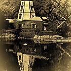 Lake Shrine windmill by Celeste Mookherjee