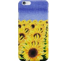 Sunflowers Field iPhone Case/Skin
