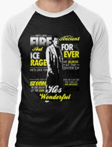 Fire and Ice and Rage  Men's Baseball ¾ T-Shirt