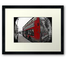 red double decker london's bus Framed Print