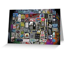 street art in London city - sticker wall  Greeting Card