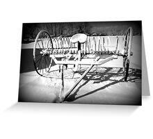 Snowy Hayrake Greeting Card