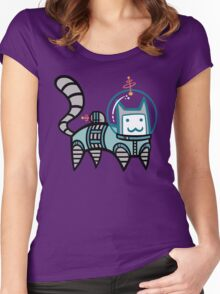 Astro Cat Women's Fitted Scoop T-Shirt
