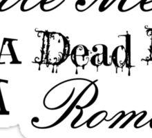 Romantic Murder Sticker