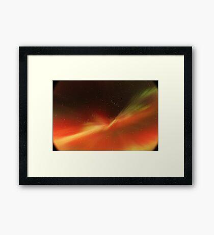 Multi-colored Aurora Borealis Framed Print