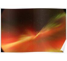 Multi-colored Aurora Borealis Poster
