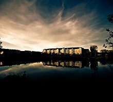 Lakeside Sunset by Sharlene Rens