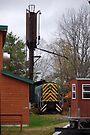 Railroad Yard, North Creek NY by John Schneider
