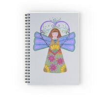 Angel/8 - Young Girl & Sunflowers Spiral Notebook