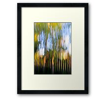 Trees by the Fence Framed Print