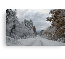 October Snow in New England Canvas Print