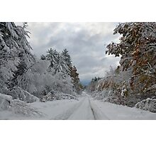 October Snow in New England Photographic Print