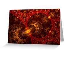 Red and Gold Spherical Greeting Card