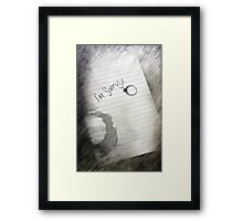 Coffee Stains and Heartaches  Framed Print
